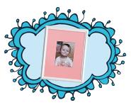 ثبت خاطرات کودک روی تابلوی عکس