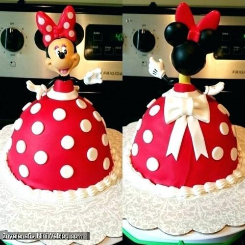 مدل های کیک دکوراتیو جشن تولد با تم مینی موس میکی موس فوندانت