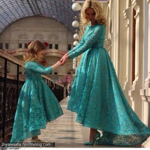 زیباترین مدل لباس ست مادر با دختر سری 5