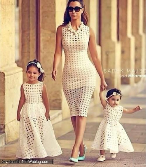 زیباترین مدل لباس ست مادر با دختر سری 6