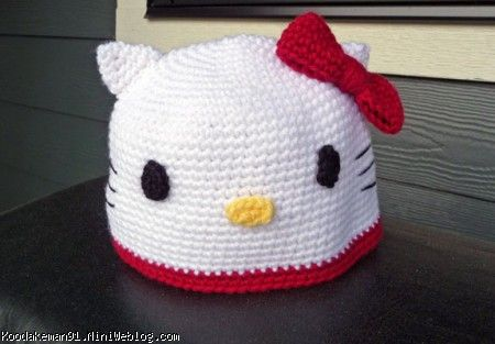 Free Crochet Pattern For A Hello Kitty Hat : ???? ?????? ????