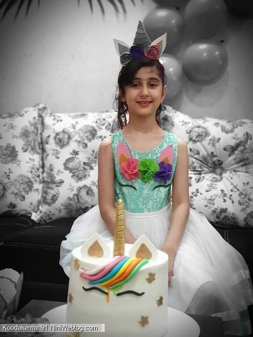 تولد 8 سالگی ساجده عزیز با تم یونیکورن(اسب تک شاخ)
