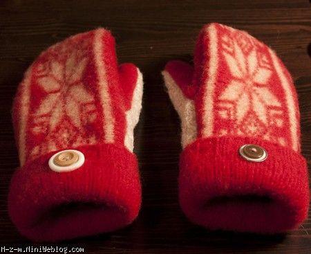 دستکش زیبا از یک لباس
