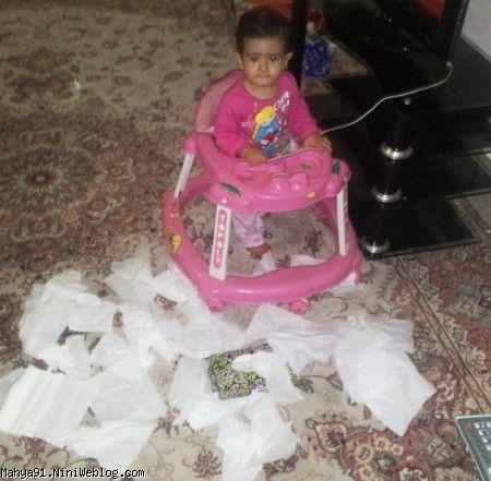 نازنین محیا و دستمال کاغذی