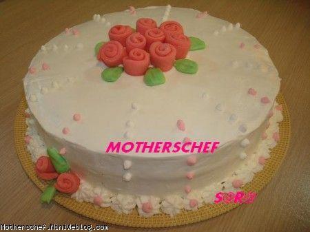 کیک شیفون-کیک تولد