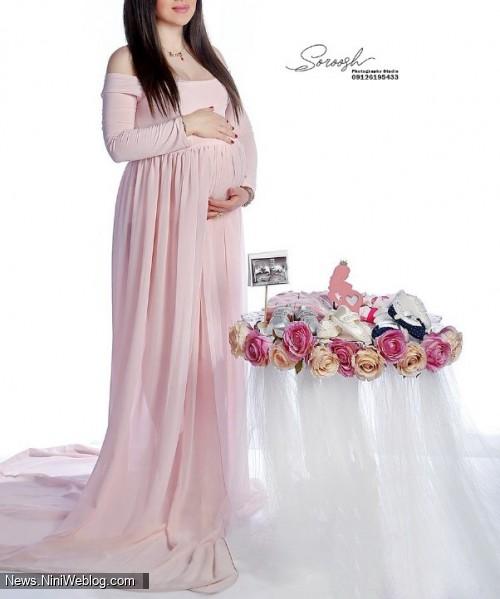 عکاسی بارداری در آتلیه کودک سروش فرمانیه