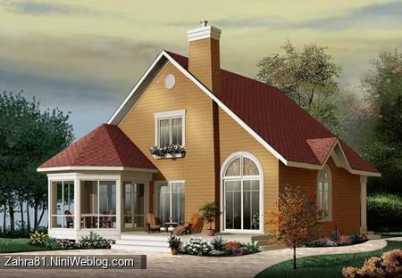 خانه چوبی بسیار زیبا