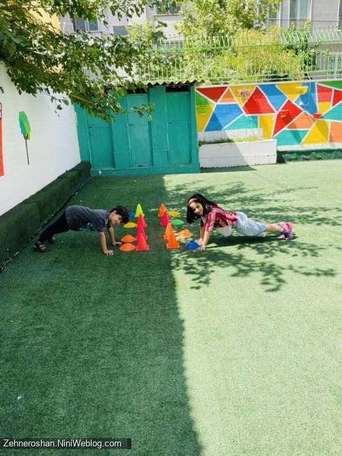 بازی تعادلی و هماهنگی در مهد کودک صادقیه